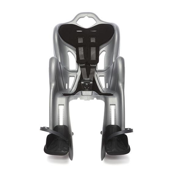Seggiolino bici posteriore fino 22 kg Silver