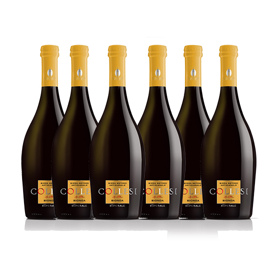 6 Bottiglie Birra BIONDA ARTIGIANALE 0.75 L