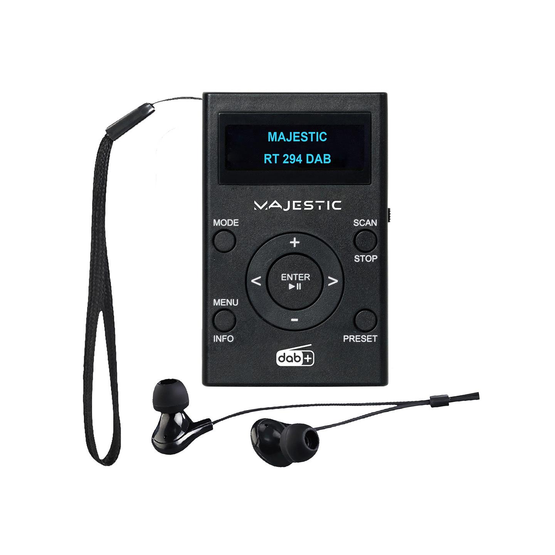 Radio portatile DAB/DAB+/FM con auricolari