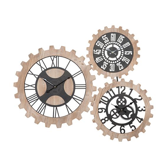 Orologio muro 3 ingranaggi INDUSTRIAL