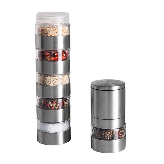 Torre portaspezie con macinaspezie