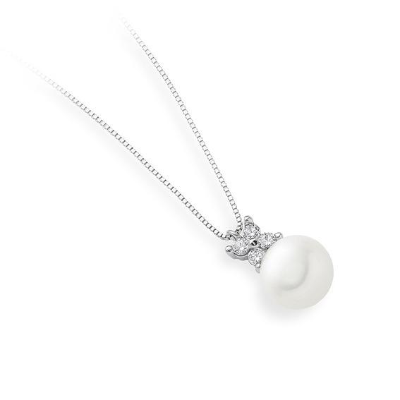 Collana Flower con perla