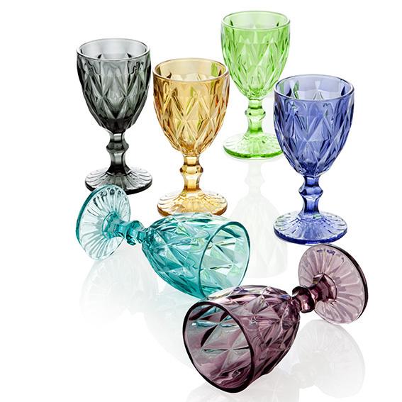 Set 6 Calici Diamante Colors