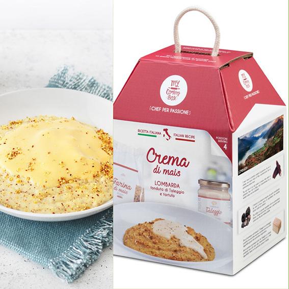 Crema di mais con taleggio e tartufo x4