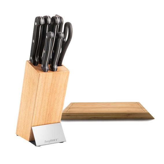 Blocco coltelli 7pz e Tagliere bambù