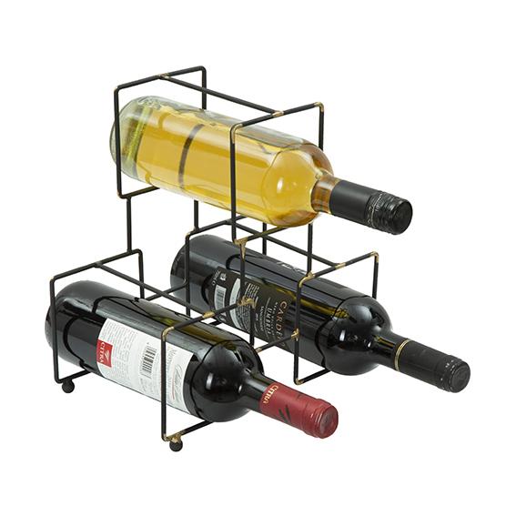Portabottiglie in ferro - 3 bottiglie