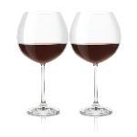 2 bicchieri vino rosso Cristallo di Boemia