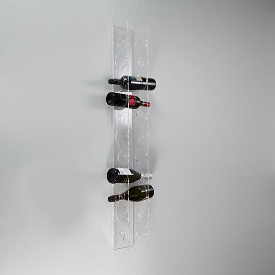 Portabottiglie da parete con 11 sedi